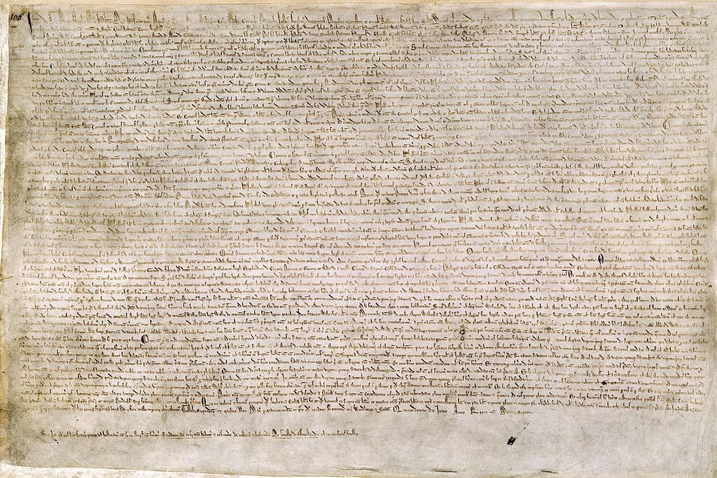 A picture of the Magna Carta