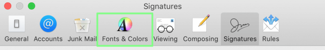 Selecting Apple Mail fonts and colors