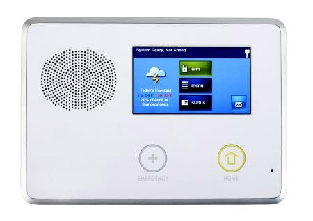 Smart home security system interface