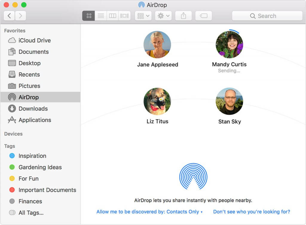 A screenshot of creating an Apple ID for AirDrop