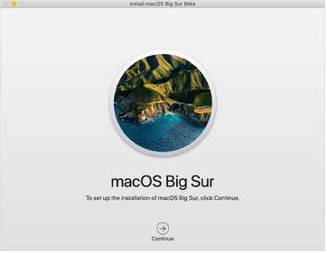 A screenshot of confirmation of setting up and installing macOS Big Sur.
