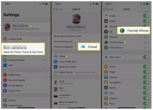 Screenshots on the settings to reset and clear your iPhone.
