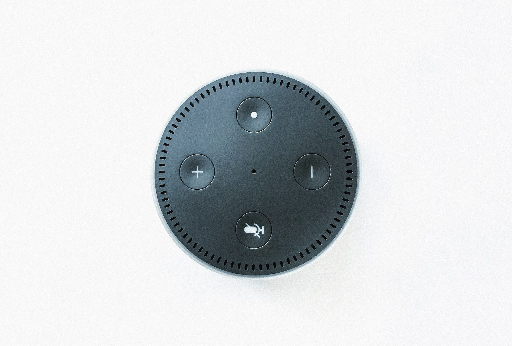 A top view of Amazon Echo