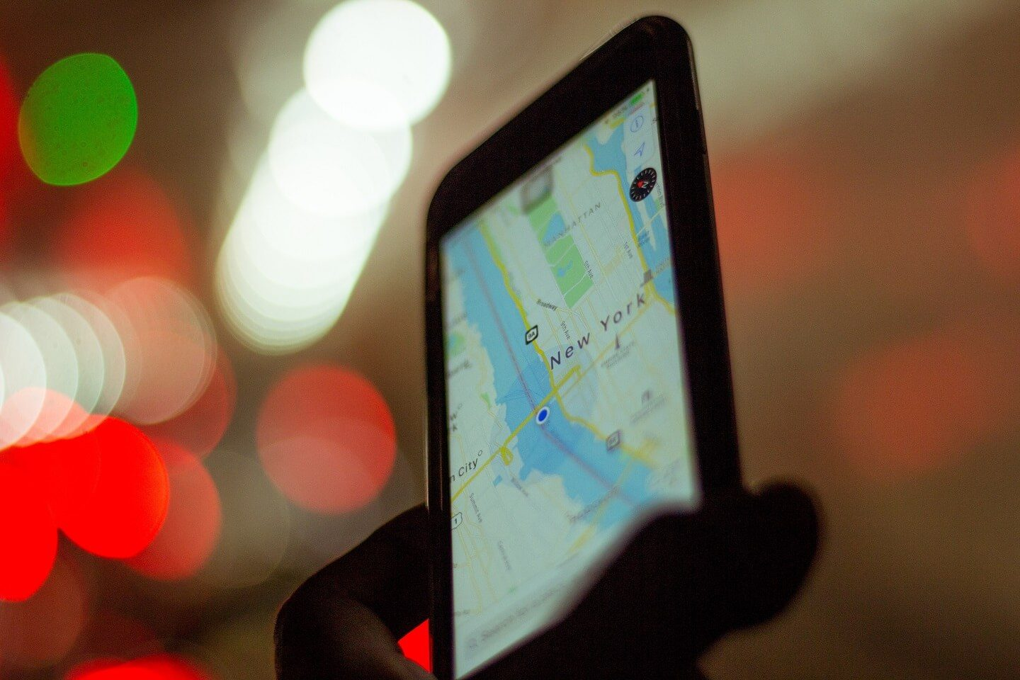 Image of a person using a map on their phone