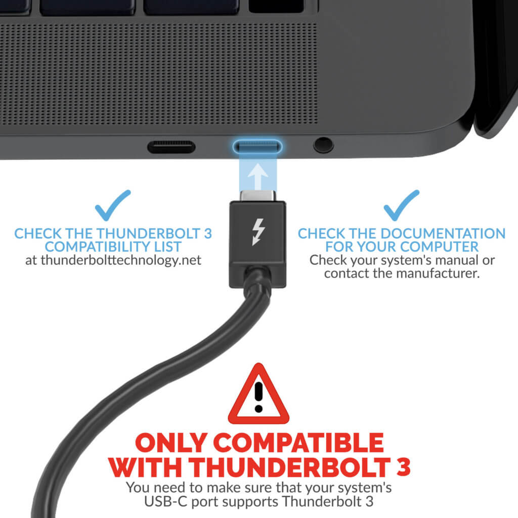 Compatibility with Thunderbolt 3
