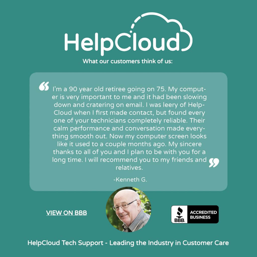 Review from Kenneth G regarding HelpCloud services