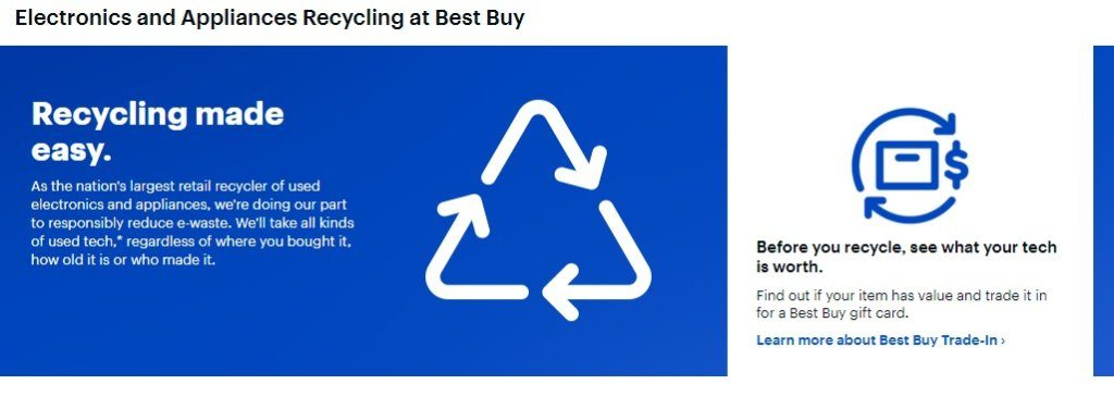 An infographic by Best Buy on ewaste recycling
