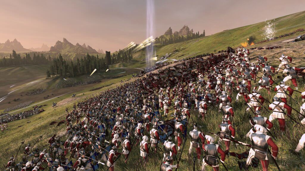 """A screenshot from the medieval warfare game, """"Total War"""" and strain it can put on a computer"""