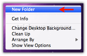A screenshot of what to select when creating a new folder in MacOS.