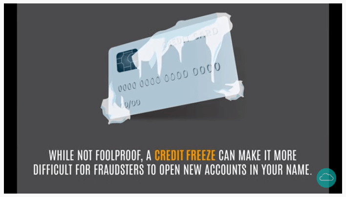 An image explaining that a credit freeze is a protective measure against identity theft.