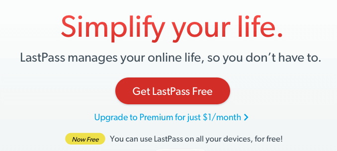 LastPass home page