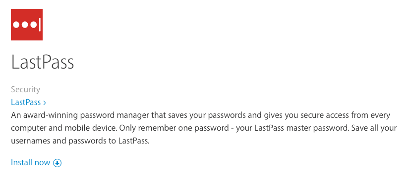 LastPass download and install