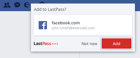 LastPass add login details to vault
