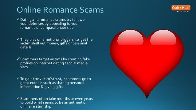 An inforgraphic about online romance scams