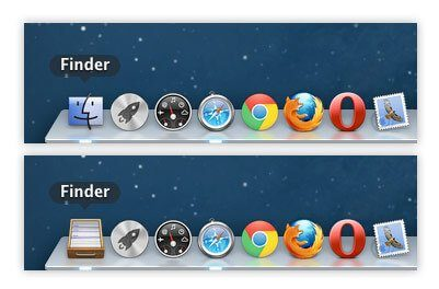 A screenshot Mac's Dock and the Finder app