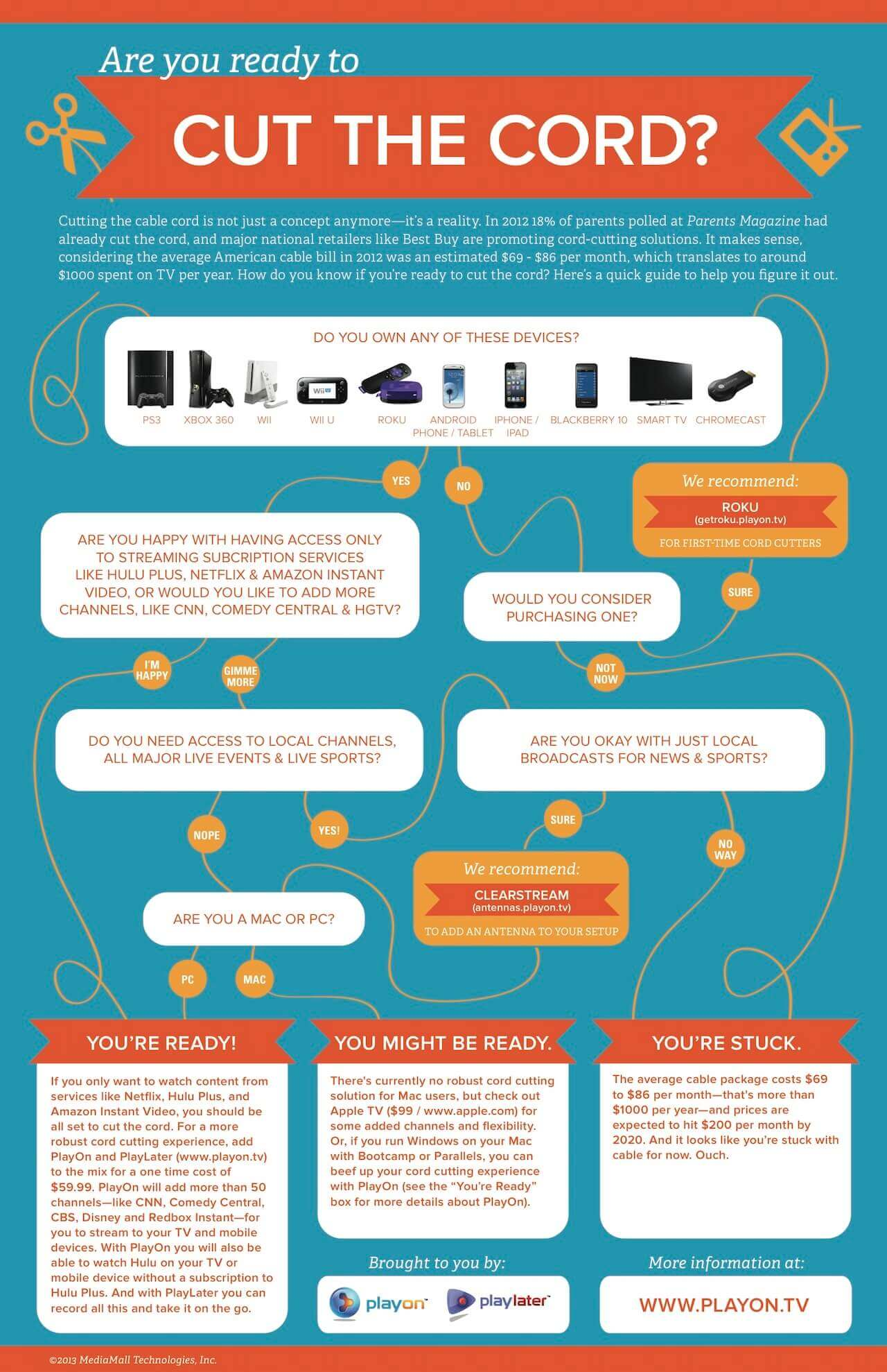An infographic with a work flow which asks if you are prepared to cut the cord